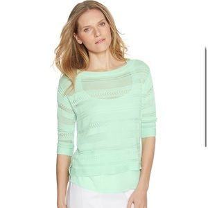White House Black Market Mint Green Sweater Sz M